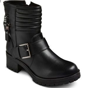 🍁 Mossimo Yazmin Vegan Faux Leather Moto Boots 🍁
